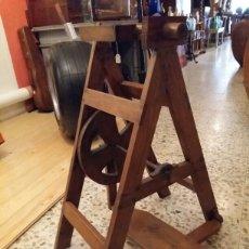 Antigüedades: HILADORA ANTIGUA DE MADERA. Lote 120494838