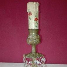 Antigüedades: PIE DE LAMPARA BRONCE. Lote 120505179