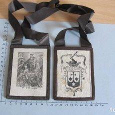 Antigüedades: ANTIGUO ESCAPULARIO SIGLO XIX - NTRA. SRA. DEL CARMEN. Lote 120512531