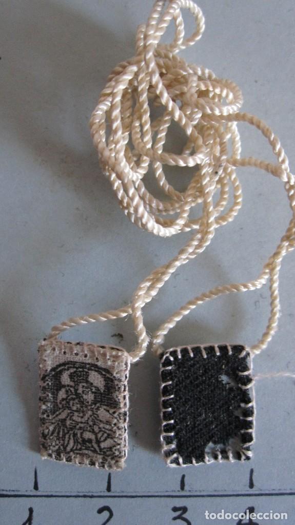 Antigüedades: LOTE DE 4 ANTIGUOS ESCAPULARIOS SIGLO XIX - NTRA. SRA. DEL CARMEN - Foto 2 - 120513543