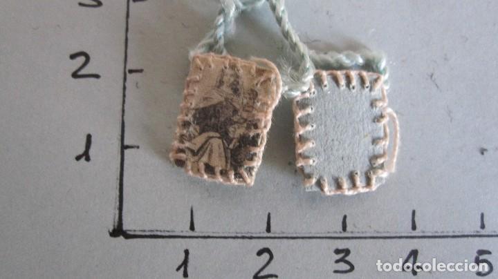 Antigüedades: LOTE DE 4 ANTIGUOS ESCAPULARIOS SIGLO XIX - NTRA. SRA. DEL CARMEN - Foto 4 - 120513543