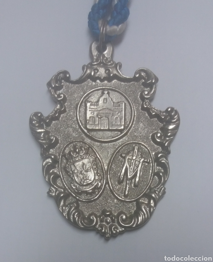 MEDALLA HERMANDAD DE LA SANTA CRUZ, EL CAMPILLO, HUELVA (Antigüedades - Religiosas - Medallas Antiguas)