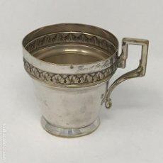 Antigüedades: TAZA PLATEADA MODERNISTA-ART NOUVEAU. Lote 120539631