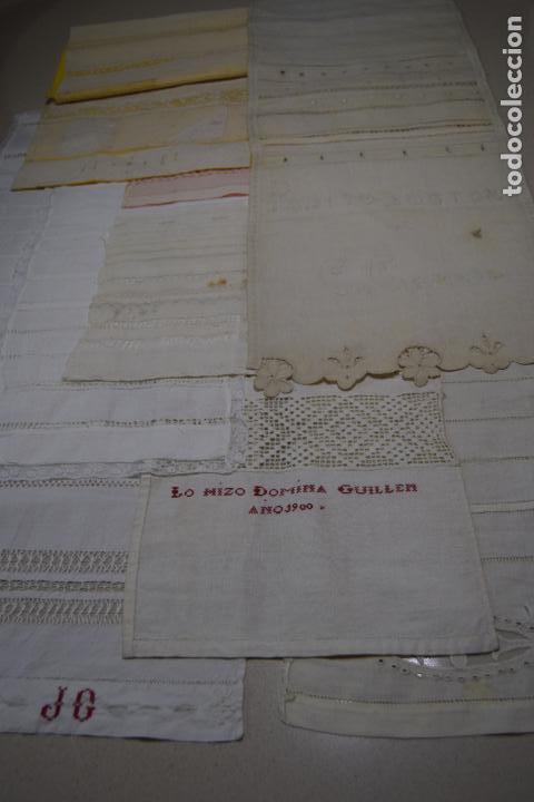 COLECCION DE 10 DECHADOS O MUESTRARIOS (Antigüedades - Moda - Bordados)