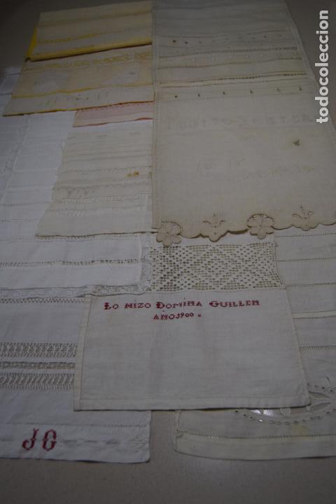 Antigüedades: coleccion de 10 dechados o muestrarios - Foto 17 - 120577951