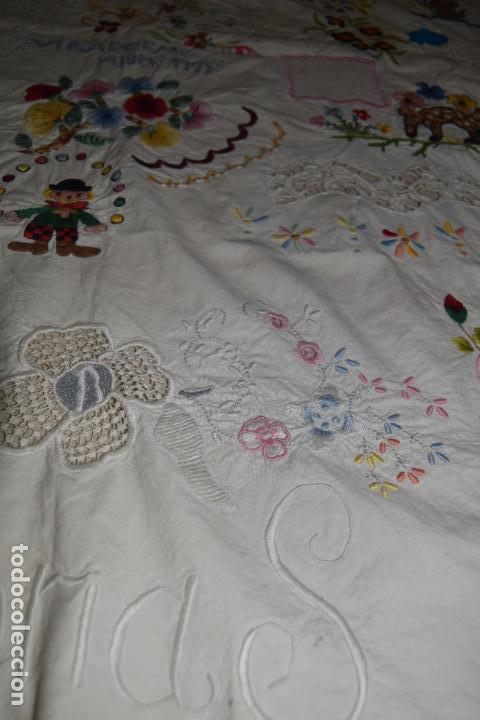 Antigüedades: lote de seis dechados o muestrario de bordados y vainicas - Foto 12 - 120579087