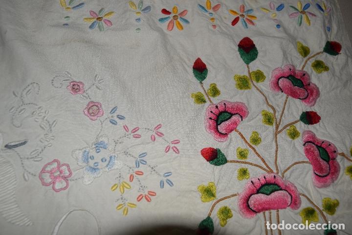 Antigüedades: lote de seis dechados o muestrario de bordados y vainicas - Foto 15 - 120579087