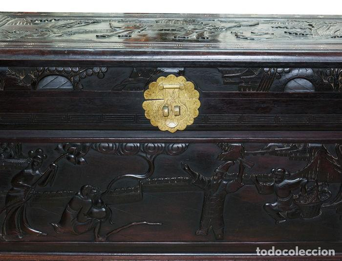 Antigüedades: Cofre Chino - Tallado en madera (50 x 60 x 100 cm) - China - 1920 - Foto 2 - 120629199