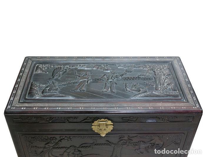 Antigüedades: Cofre Chino - Tallado en madera (50 x 60 x 100 cm) - China - 1920 - Foto 6 - 120629199