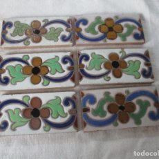 Antigüedades: AZULEJOS CENEFAS REFLEJOS RAMOS REJANO. Lote 120630599