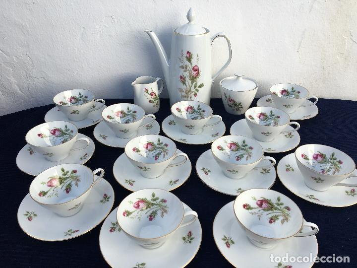 JUEGO DE CAFÉ EN PORCELANA DE BAVARIA SELLADO (Antigüedades - Porcelana y Cerámica - Alemana - Meissen)