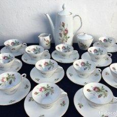 Antigüedades: JUEGO DE CAFÉ EN PORCELANA DE BAVARIA SELLADO. Lote 120633295