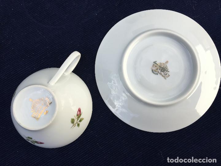 Antigüedades: JUEGO DE CAFÉ EN PORCELANA DE BAVARIA SELLADO - Foto 7 - 120633295