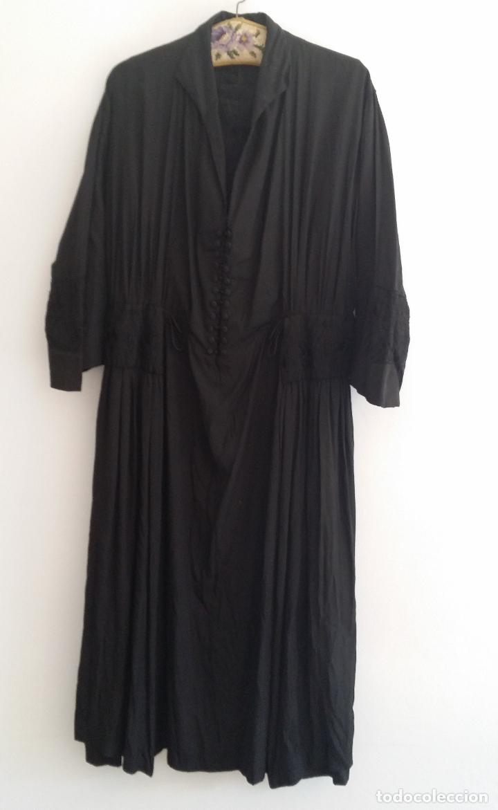 Antigüedades: Antiguo vestido de novia negro, Art Deco - de Colección - Foto 2 - 120636143