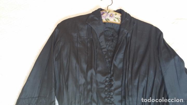 Antigüedades: Antiguo vestido de novia negro, Art Deco - de Colección - Foto 3 - 120636143