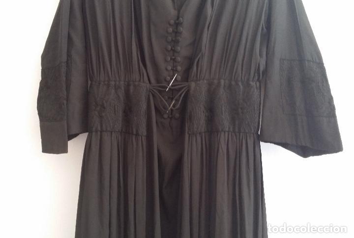 Antigüedades: Antiguo vestido de novia negro, Art Deco - de Colección - Foto 4 - 120636143