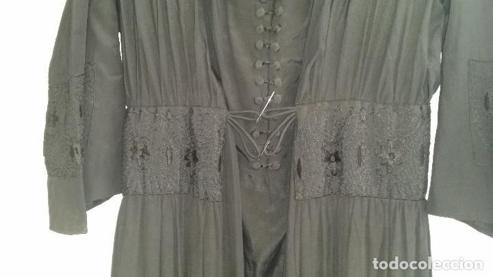 Antigüedades: Antiguo vestido de novia negro, Art Deco - de Colección - Foto 5 - 120636143