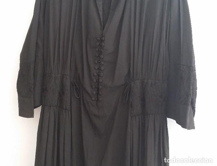Antigüedades: Antiguo vestido de novia negro, Art Deco - de Colección - Foto 6 - 120636143
