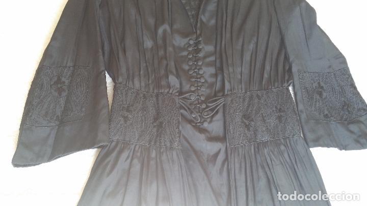 Antigüedades: Antiguo vestido de novia negro, Art Deco - de Colección - Foto 7 - 120636143
