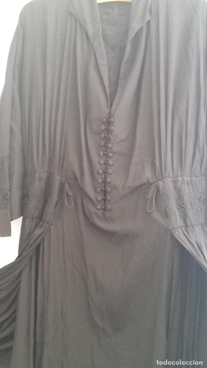 Antigüedades: Antiguo vestido de novia negro, Art Deco - de Colección - Foto 8 - 120636143