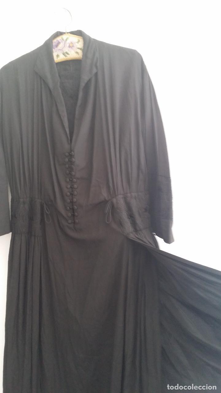 Antigüedades: Antiguo vestido de novia negro, Art Deco - de Colección - Foto 9 - 120636143