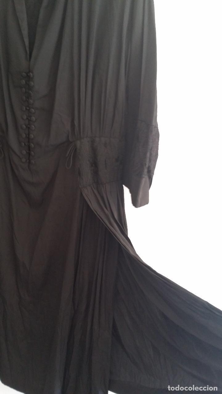 Antigüedades: Antiguo vestido de novia negro, Art Deco - de Colección - Foto 10 - 120636143