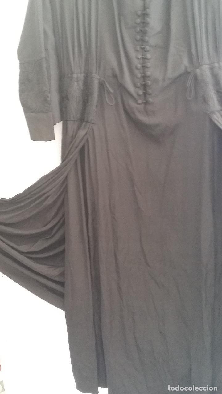Antigüedades: Antiguo vestido de novia negro, Art Deco - de Colección - Foto 11 - 120636143