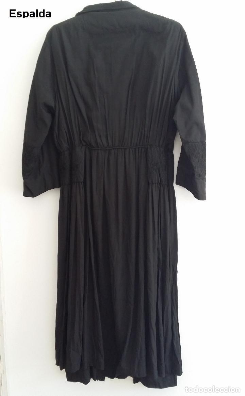 Antigüedades: Antiguo vestido de novia negro, Art Deco - de Colección - Foto 12 - 120636143