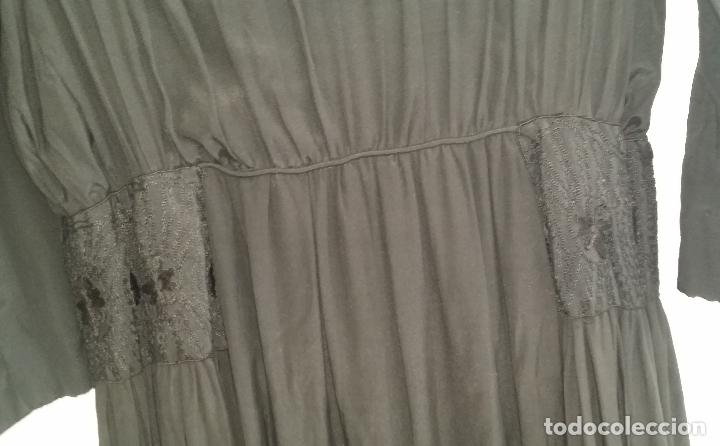 Antigüedades: Antiguo vestido de novia negro, Art Deco - de Colección - Foto 13 - 120636143