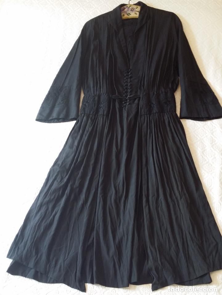 Antigüedades: Antiguo vestido de novia negro, Art Deco - de Colección - Foto 14 - 120636143