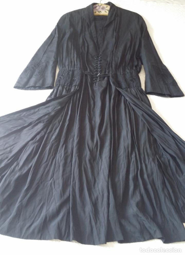 Antigüedades: Antiguo vestido de novia negro, Art Deco - de Colección - Foto 15 - 120636143