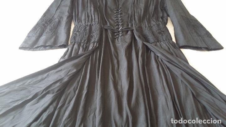 Antigüedades: Antiguo vestido de novia negro, Art Deco - de Colección - Foto 16 - 120636143