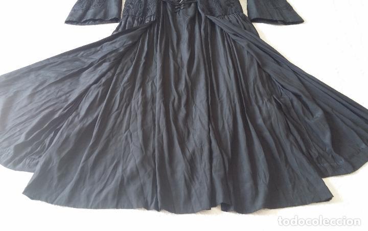 Antigüedades: Antiguo vestido de novia negro, Art Deco - de Colección - Foto 17 - 120636143