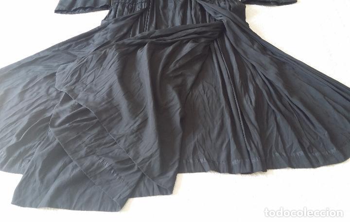 Antigüedades: Antiguo vestido de novia negro, Art Deco - de Colección - Foto 18 - 120636143