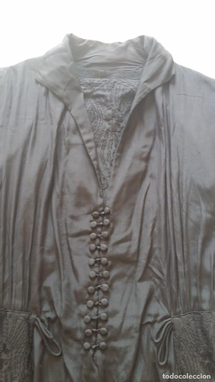 Antigüedades: Antiguo vestido de novia negro, Art Deco - de Colección - Foto 19 - 120636143