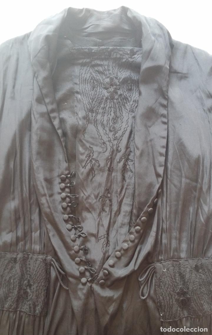Antigüedades: Antiguo vestido de novia negro, Art Deco - de Colección - Foto 20 - 120636143