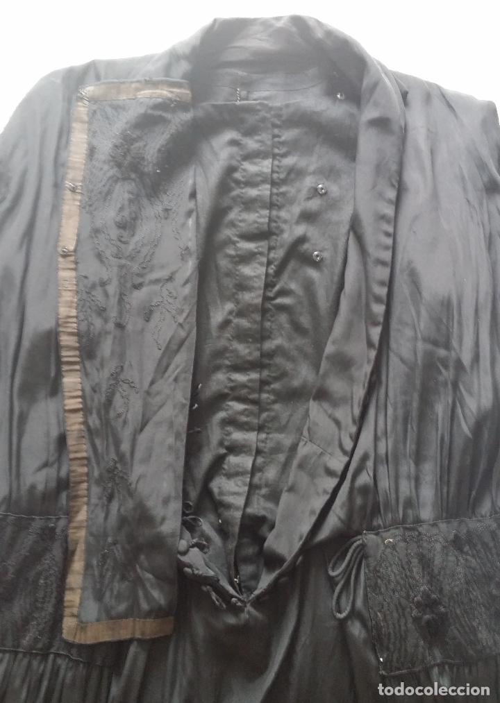 Antigüedades: Antiguo vestido de novia negro, Art Deco - de Colección - Foto 22 - 120636143