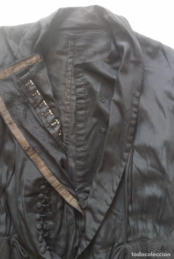 Antigüedades: Antiguo vestido de novia negro, Art Deco - de Colección - Foto 23 - 120636143