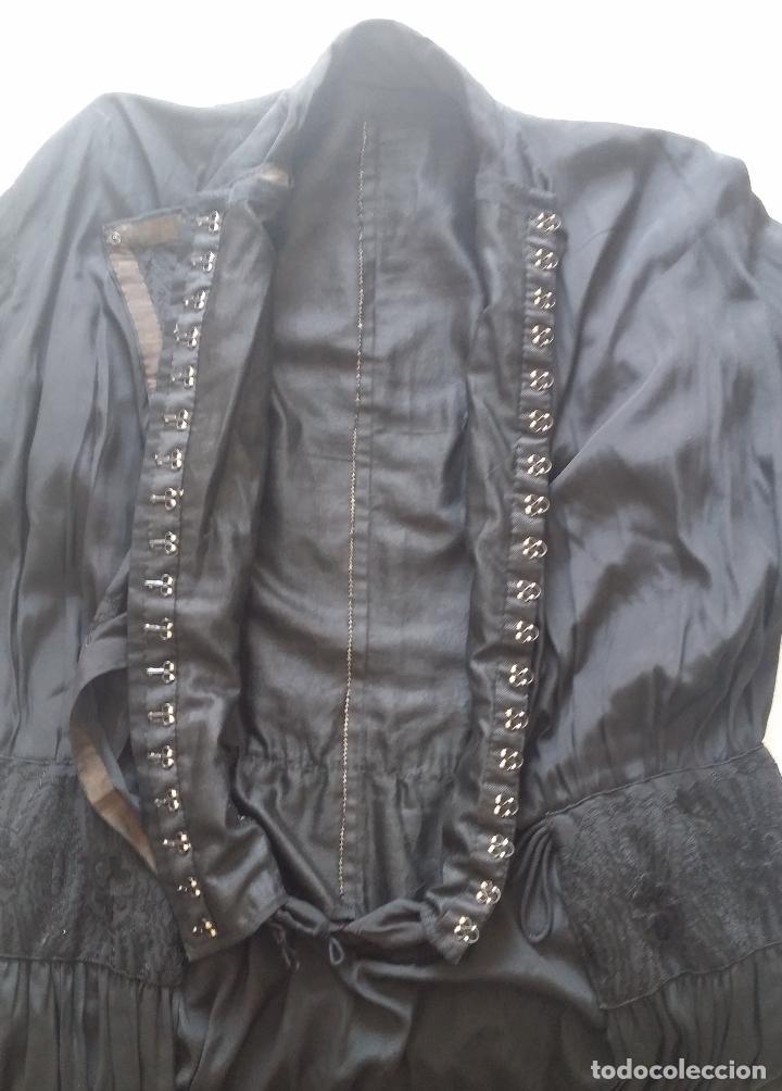 Antigüedades: Antiguo vestido de novia negro, Art Deco - de Colección - Foto 24 - 120636143
