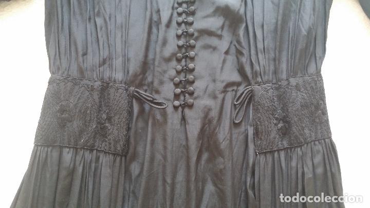 Antigüedades: Antiguo vestido de novia negro, Art Deco - de Colección - Foto 25 - 120636143