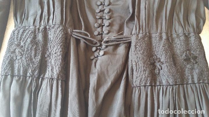 Antigüedades: Antiguo vestido de novia negro, Art Deco - de Colección - Foto 26 - 120636143