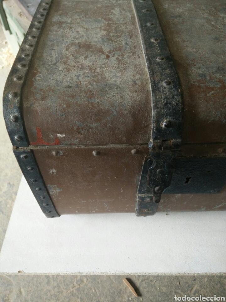 Antigüedades: Maleta de carruaje en forja - Foto 3 - 120644839