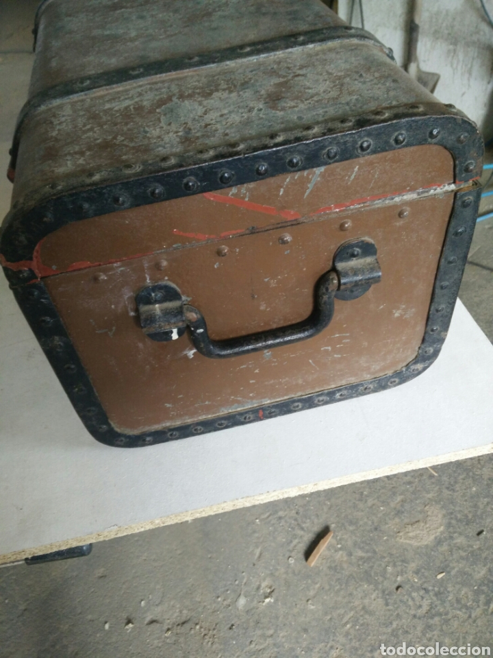 Antigüedades: Maleta de carruaje en forja - Foto 5 - 120644839