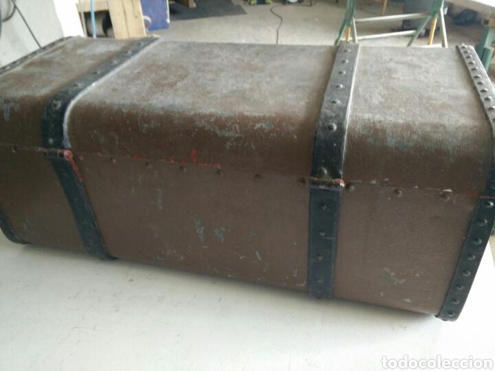 Antigüedades: Maleta de carruaje en forja - Foto 6 - 120644839