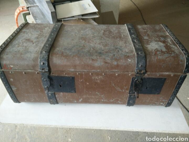 Antigüedades: Maleta de carruaje en forja - Foto 10 - 120644839