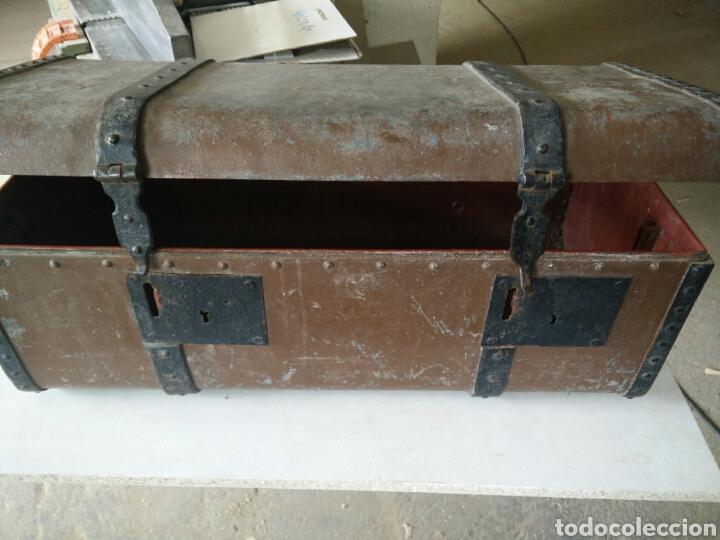Antigüedades: Maleta de carruaje en forja - Foto 11 - 120644839