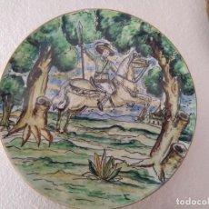Antigüedades: PLATO DE CERÁMICA DE TALAVERA O PUENTE DEL ARZOBISPO. Lote 120692291