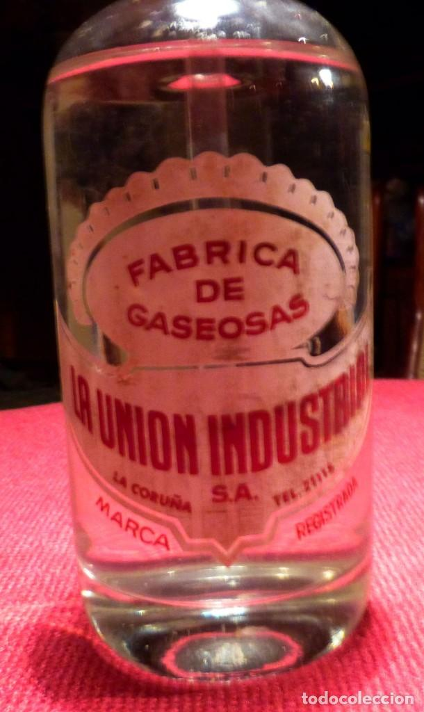 Antigüedades: SIFON LLENO DE FABRICA DE GASEOSAS LA UNION INDUSTRIAL, S.A. La Coruña - Foto 3 - 120693835