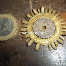 Antigüedades: CORONA POTENCIA.HALO.RESPLANDOR.PARA IMAGEN RELIGIOSA.4 CM DIAMETRO.DIFICIL.. Lote 120695659