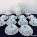 Antigüedades: JUEGO ANTIGUO DE CAFE EN PORCELANA SELLADO CHODAU. Lote 120748019